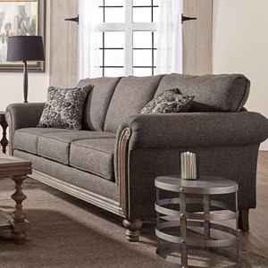 Serta Upholstery by Hughes Furniture 3400 Stationary Sofa