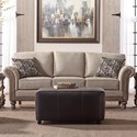 Serta Upholstery by Hughes Furniture 3400 Stationary Sofa - Item Number: 3400S-TSAL