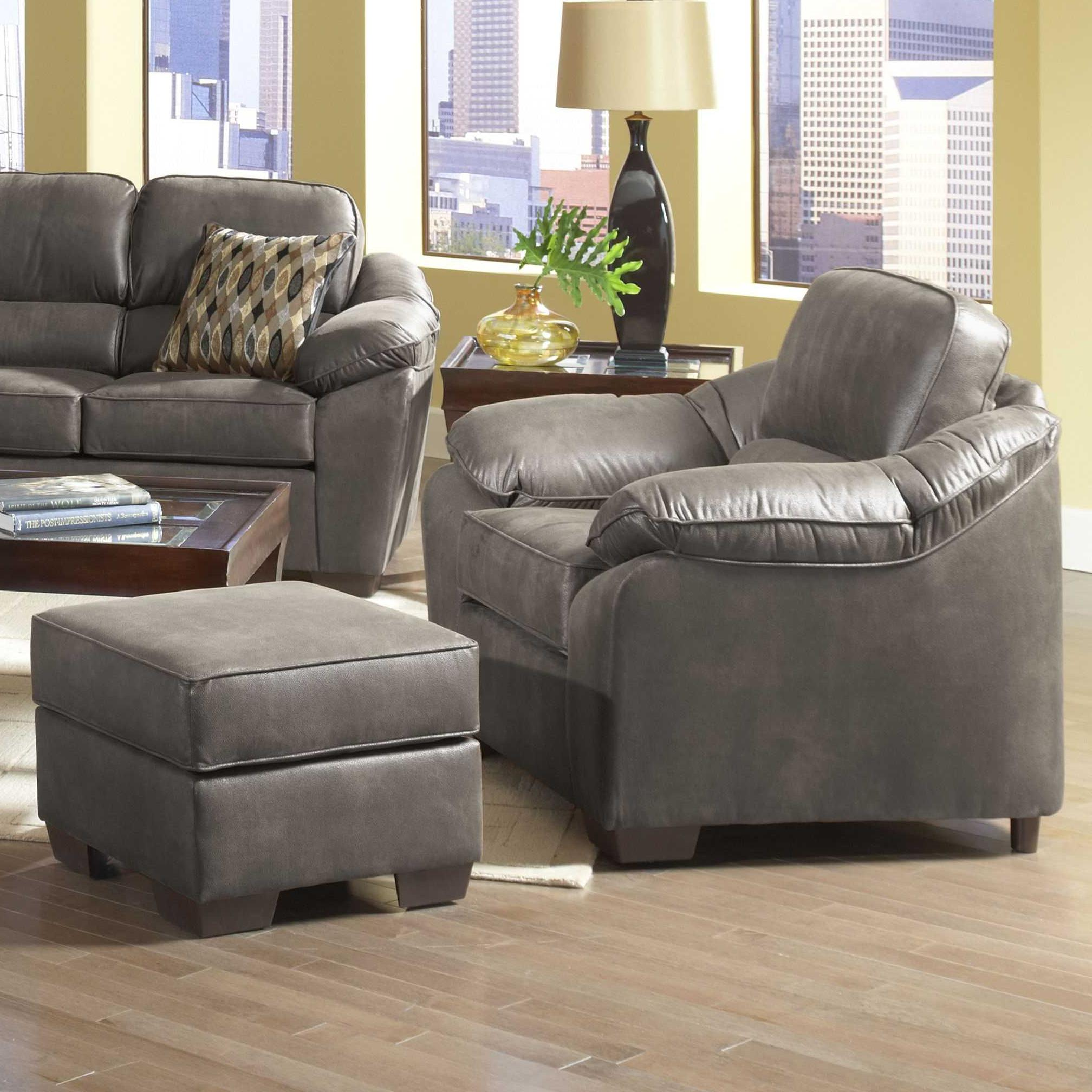Serta Upholstery 3800 Chair and Ottoman Set - Item Number: 3800 C + O