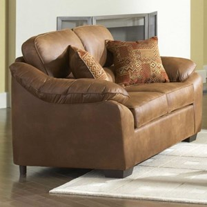 Serta Upholstery by Hughes Furniture 3800 Pillowed Love Seat