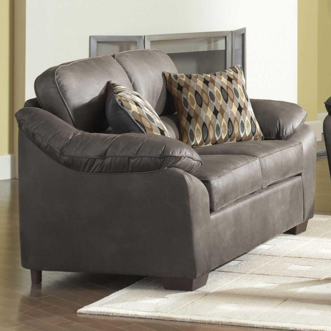 Serta Upholstery 3800 Pillowed Love Seat - Item Number: 3800 LS