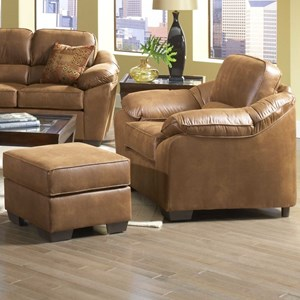 Serta Upholstery 3800 Chair and Ottoman Set