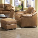 Serta Upholstery 3800 Chair and Ottoman Set - Item Number: 3800 O + C - 1