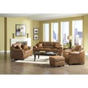 Serta Upholstery 3800 Comfortable Chair and Ottoman Set