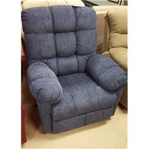 Casual Recliner with Tufted Seatback