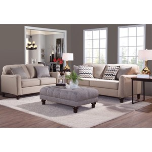 Serta Upholstery by Hughes Furniture 4050 Stationary Living Room Group