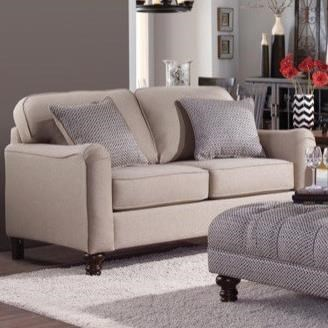 4050 Transitional Loveseat by Serta Upholstery by Hughes Furniture at Rooms for Less