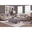 Serta Upholstery Pemberley Transitional Loveseat with Turned Legs