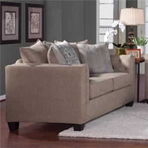 Serta Upholstery by Hughes 4850 Transitional Loveseat