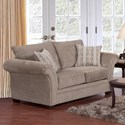 Serta Upholstery by Hughes Furniture 5100 Loveseat - Item Number: 5100LS 1