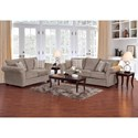 Serta Upholstery by Hughes Furniture 5100 Transitional Loveseat with Reversible Cushions