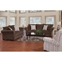 Serta Upholstery by Hughes Furniture 5100 Transitional Sofa with Reversible Cushions