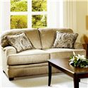 Serta Upholstery by Hughes Furniture 5500  Loveseat - Item Number: 5500 LS-Beige