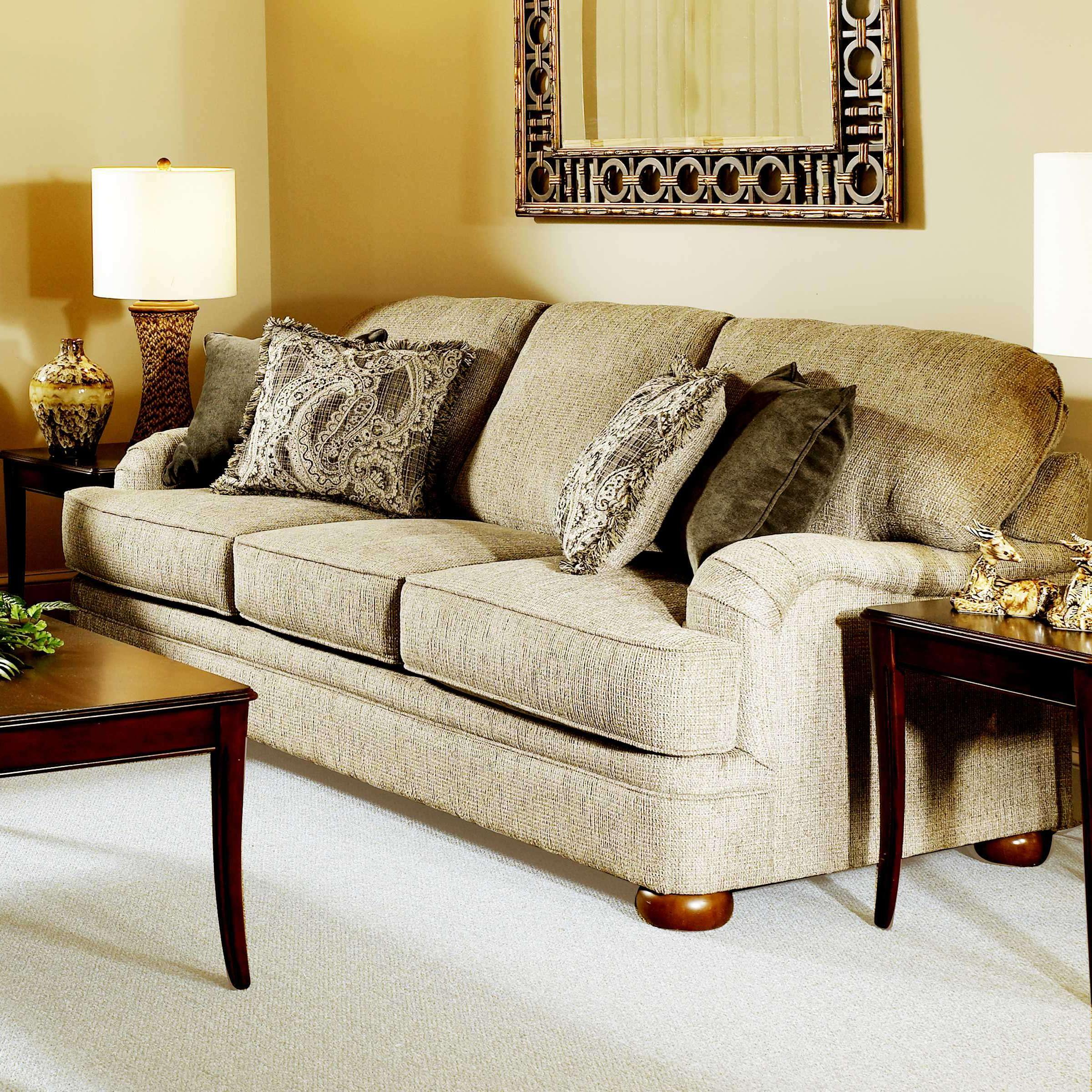Serta Upholstery By Hughes Furniture 5500 Sofa   Item Number: 5500 S Beige