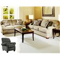 Hughes Furniture 5500  Transitional Sofa with English Arms
