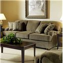 Serta Upholstery by Hughes Furniture 5500  Sofa - Item Number: 5500 S-Heavenly Suede