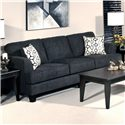 Serta Upholstery by Hughes Furniture 5600 Contemporary Sofa - Item Number: 5600 S