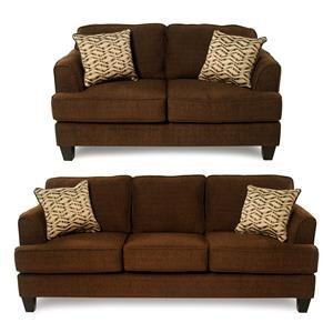 Serta Upholstery Freerider 2-Piece Sofa & Loveseat Package