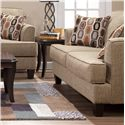 Serta Upholstery by Hughes Furniture 5600 Transitional Love Seat - Item Number: 5600LS-BBAU