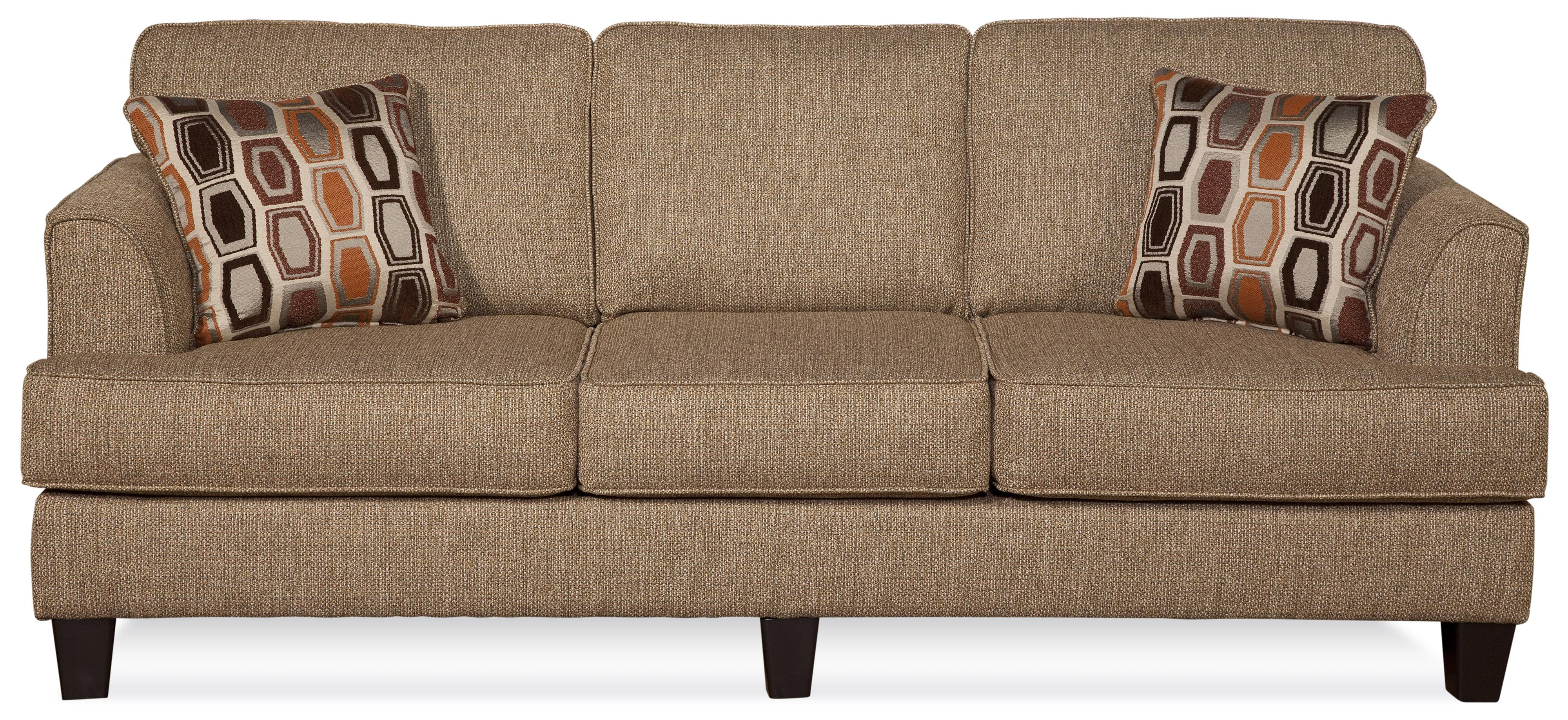 Serta Upholstery by Hughes Furniture 5600 Contemporary Sofa - Item Number: 5600S-BBAU