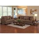 Serta Upholstery 5625 Contemporary Stationary Upholstered Sofa