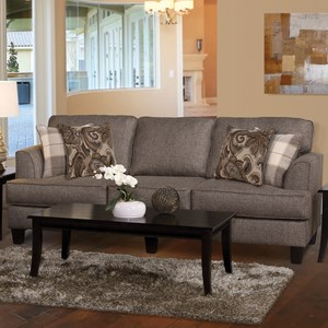 5625 Contemporary Stationary Upholstered Sofa by Serta Upholstery by Hughes Furniture