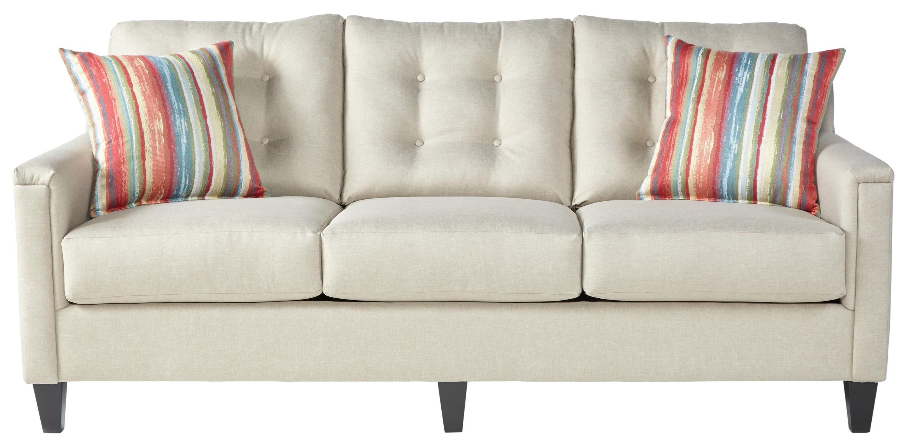 6800 Casual Sofa by Serta Upholstery by Hughes Furniture at VanDrie Home Furnishings