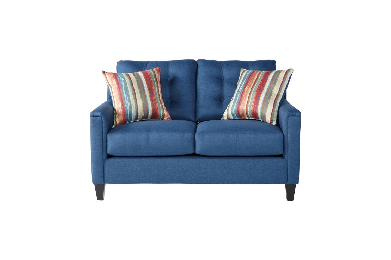 Serta Upholstery by Hughes Furniture 6800Jitt Denim Loveseat - Item Number: 6800Denim