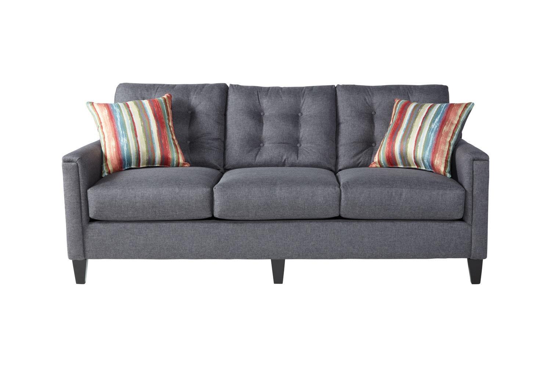 Serta Upholstery by Hughes Furniture 6800Jitt Grey Sofa - Item Number: 6800Gray