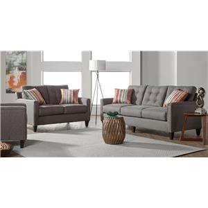 Serta Upholstery by Hughes Furniture 6800Jitt Jitterbug Gray Group Shot