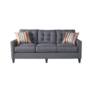 Serta Upholstery by Hughes Furniture 6800Jitt Grey Sofa