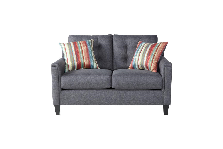 Serta Upholstery by Hughes Furniture 6800Jitt Gray loveseat - Item Number: 6800Grey
