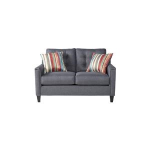Serta Upholstery by Hughes Furniture 6800Jitt Gray loveseat