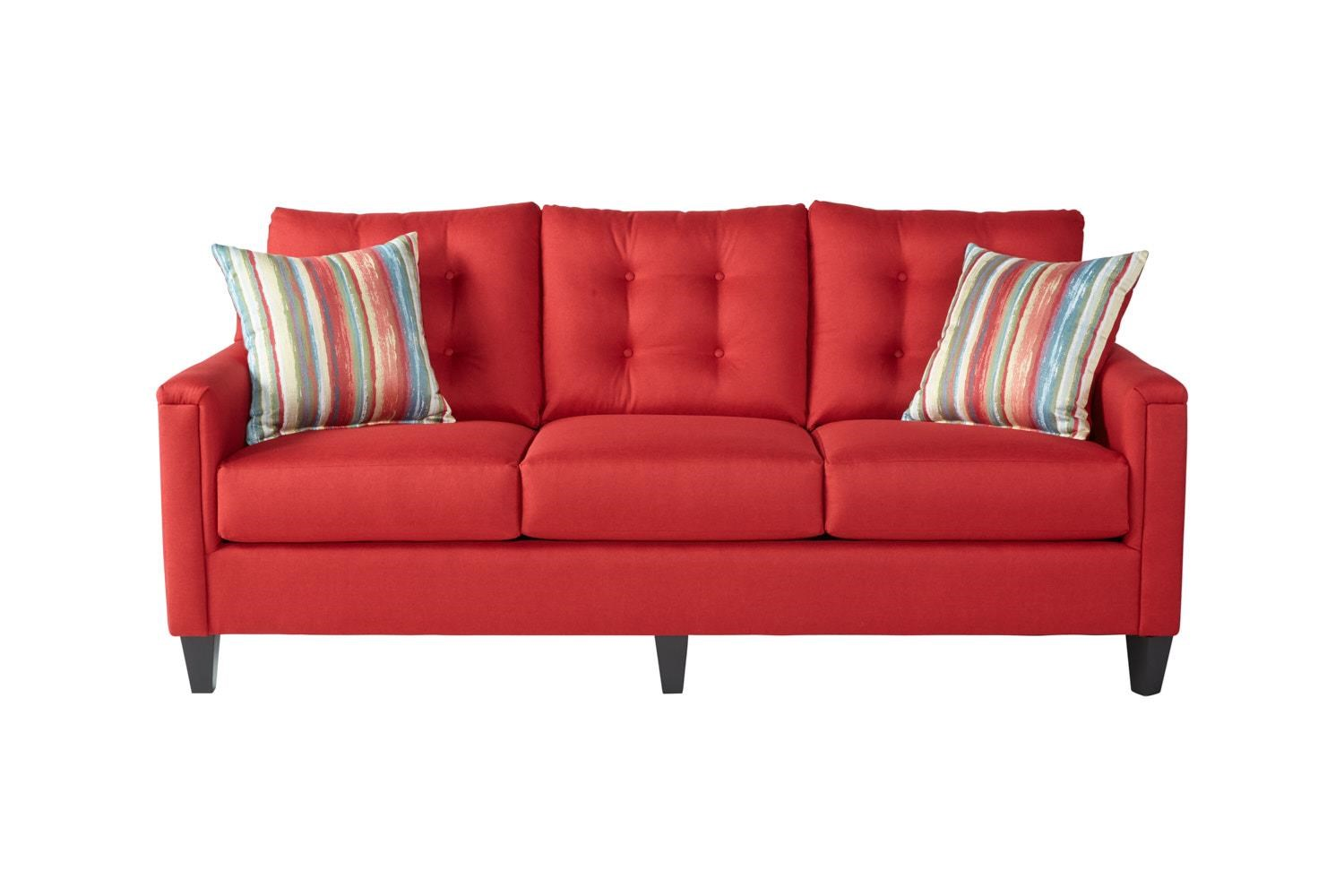 Serta Upholstery by Hughes Furniture 6800Jitt Red Sofa - Item Number: 6800red