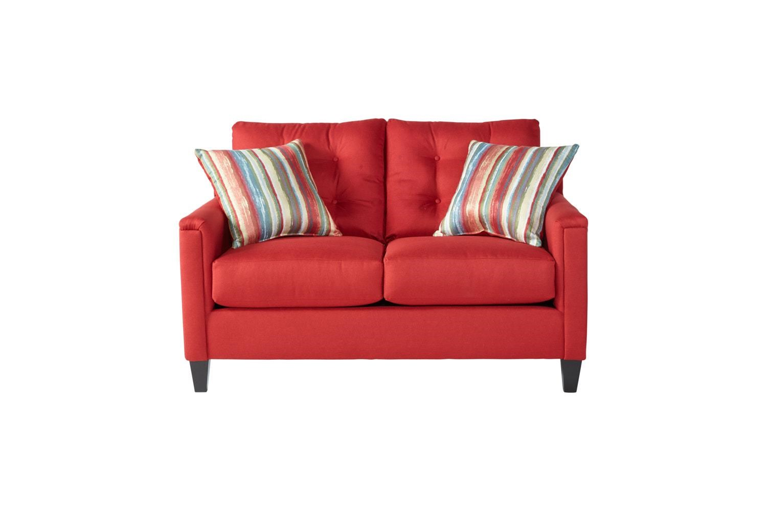 Serta Upholstery by Hughes Furniture 6800Jitt Red Loveseat - Item Number: 6800Red