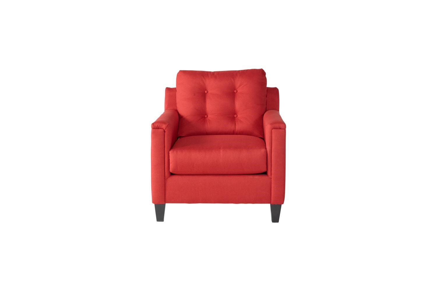 Serta Upholstery by Hughes Furniture 6800Jitt Red Chair - Item Number: 6800Red