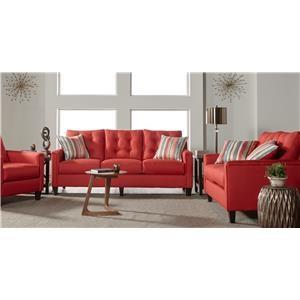 Serta Upholstery by Hughes Furniture 6800Jitt Jitterbug Red Group shot