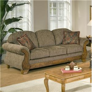 Serta Upholstery By Hughes Furniture 7400 Traditional Sofa With