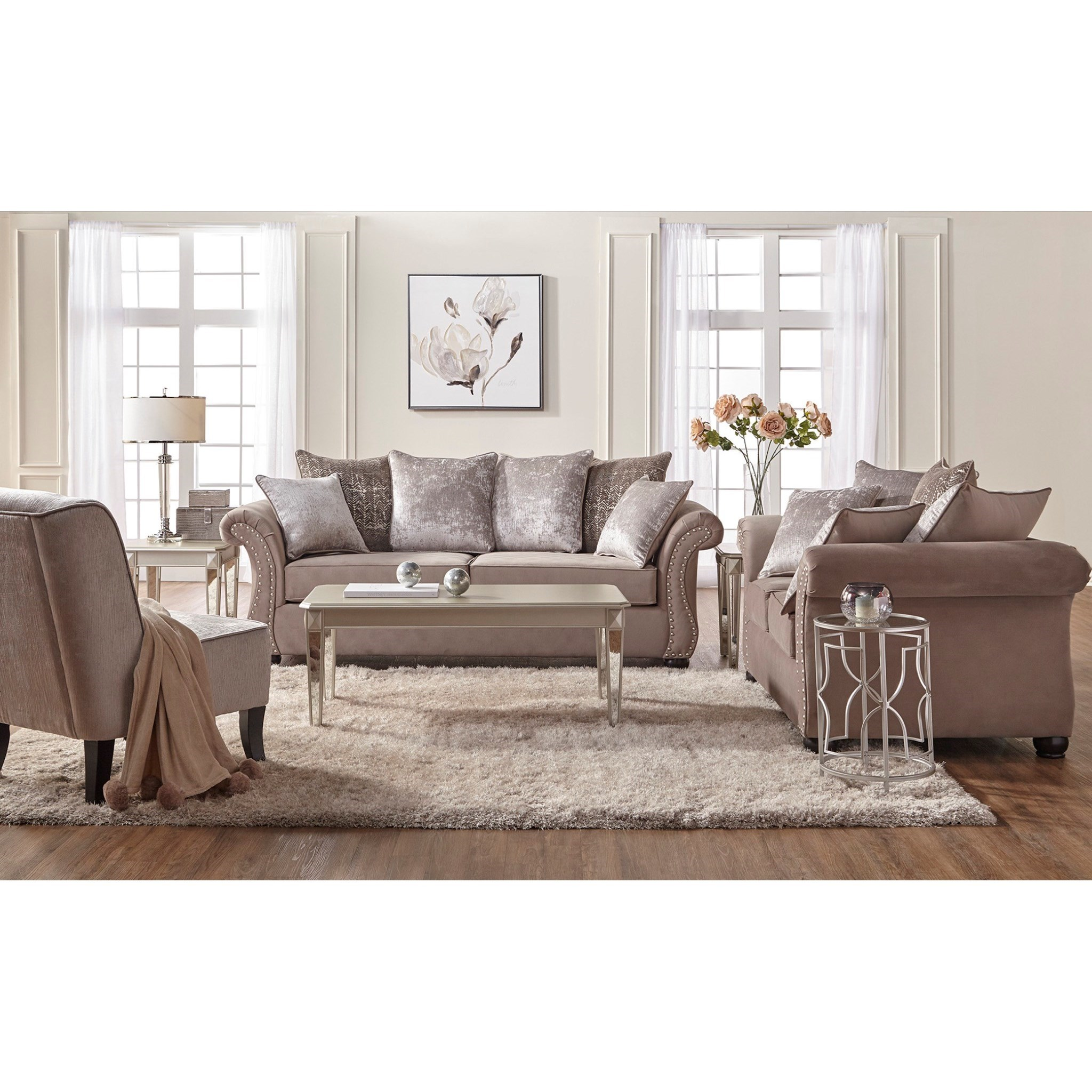 Serta Upholstery by Hughes Furniture 7500 Stationary Living Room Group - Item Number: 7500 Living Room Group 1