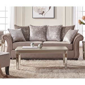 Serta Upholstery by Hughes Furniture 7500 Stationary Sofa