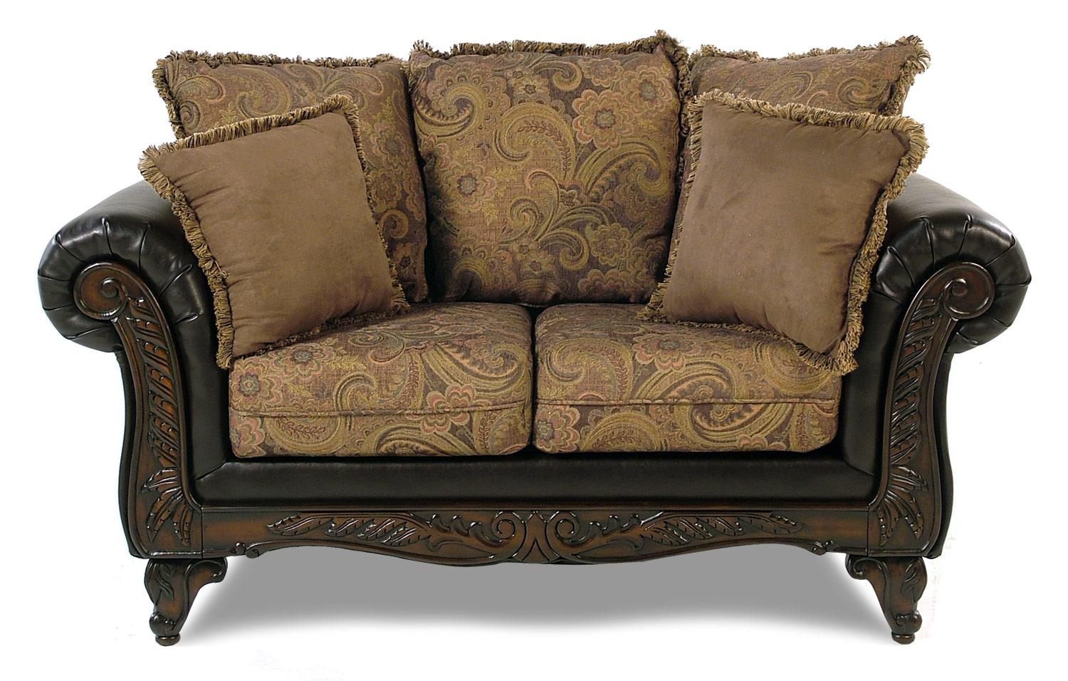 Serta Upholstery Monaco Wood Face Love Seat - Item Number: 7685 LS