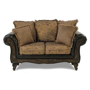 Serta Upholstery Monaco Wood Face Love Seat