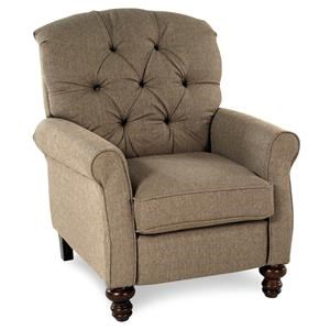 Serta Upholstery Pemberly Traditional High Leg Recliner