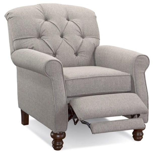Serta Upholstery by Hughes Furniture 850 Serta Upholstery Traditional High Leg Recliner - Item Number: 850RC