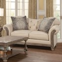 Serta Upholstery 8725 Traditional Loveseat - Item Number: 8725LS