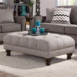 Serta Upholstery by Hughes Furniture 8750 Traditional Ottoman