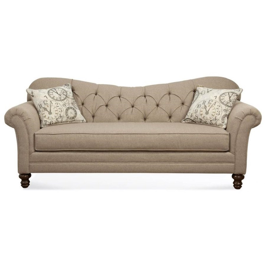 Hughes furniture 8750 sofa with diamond tufted back for B furniture toronto