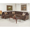 Serta Upholstery Grayson Casual Sectional - Item Number: 8800LFS+RFS