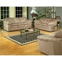 Serta Upholstery 9000 Casual Sofa with Plush Pillow Top Seats