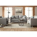 Serta Upholstery by Hughes Furniture 9300 Contemporary Upholstered Chair with Accent Welt
